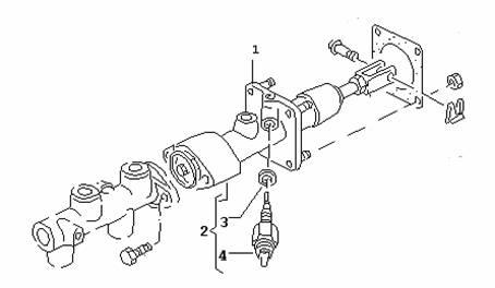 гидроаккумулятор, тормозная система audi-100-44